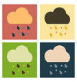 rain icon in trendy flat style isolated on grey vector image vector image