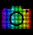 rainbow dot photo camera icon vector image vector image