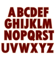 Red Textile Alphabet vector image vector image