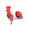 Rooster with a pattern vector image