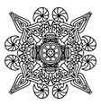 round decorative ornament element mandala vector image vector image