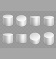 round podium 3d bases white cylinder solid vector image vector image