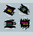 sales banner creative design with set black vector image