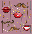 seamless pattern with movember party accessories vector image vector image