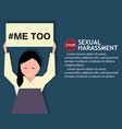 sexual harassment poster with girl vector image vector image