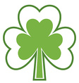 Shamrock icon Four leaf clover Abstract tree vector image vector image