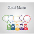Social media people group vector image vector image