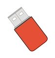 usb memory storage isolated icon vector image