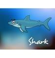 Cartoon shark in sea vector image