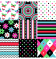 pop patterns collection vector image
