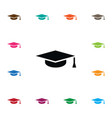 isolated graduation cap icon mortar board vector image