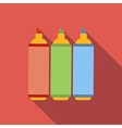 Set of markers flat icon vector image