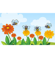 A flying bees vector image vector image