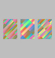 abstract modern geometrical diagonal stripe flyer vector image vector image