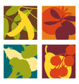 abstract vegetable designs set 3 vector image vector image