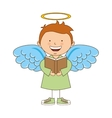 angel boy character icon vector image