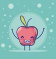 apple cute fruits cartoons vector image