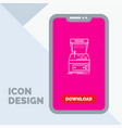 arcade console game machine play line icon in vector image
