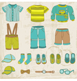 Baby Boy Set vector image vector image