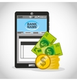 bank online technology icon vector image