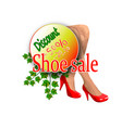 banner sales for a shoe store vector image vector image