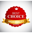 Best Choice Red Label with Ribbon vector image vector image