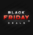 black friday sale banner design with a glitch vector image vector image