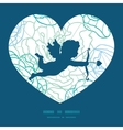 blue line art flowers shooting cupid vector image