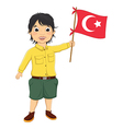 Boy with Turkish Flag vector image vector image