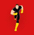 cartoon of a superhero running vector image vector image