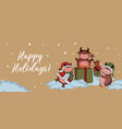 christmas cards year bull 2021 craft paper vector image vector image