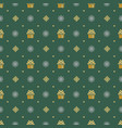 christmas retro seamless pattern background vector image