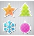 Christmas sticker icons vector | Price: 1 Credit (USD $1)