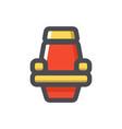 cinema red chair single icon cartoon vector image