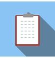 Clipboard flat icon vector image vector image