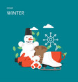 cold winter flat style design vector image vector image