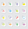 Colorful web icon set 3 vector image