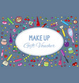 cosmetics and beauty background with make up vector image vector image