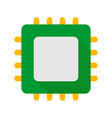 cpu pc hardware part icon flat style vector image vector image