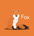 cute cartoon wild foxanimal graphic vector image