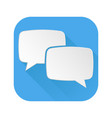 dialog icon speech bubbles blue sign vector image vector image