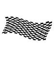 dynamic racing flag vector image
