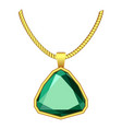 emerald jewelry icon realistic style vector image vector image