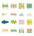 Equalizer flat icons set vector image
