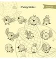 fanny birds vector image vector image