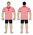 fashion man figure and polo t shirt design with vector image vector image