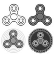 fidget spinner toys set isolated icons vector image