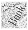 find books on astrolgoy Word Cloud Concept vector image vector image