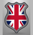 flag of united kingdom badge and icon vector image vector image