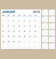 german calendar 2019 vector image vector image
